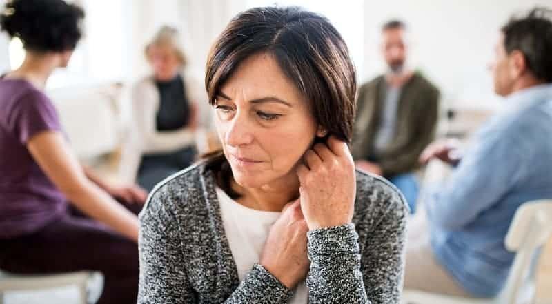 kobieta na terapii uzależnień